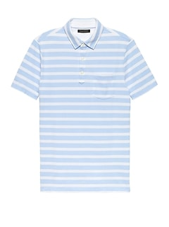 Don't-Sweat-It Mariner Stripe Polo