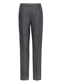 Heritage Athletic Tapered Irish Check Linen Suit Pant