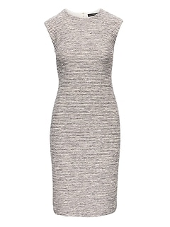 Bouclé Sheath Dress