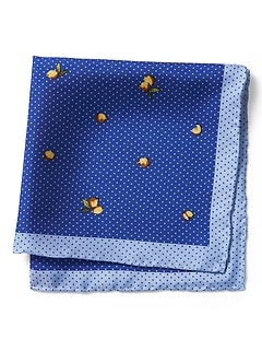 Zesty Lemon Silk Pocket Square