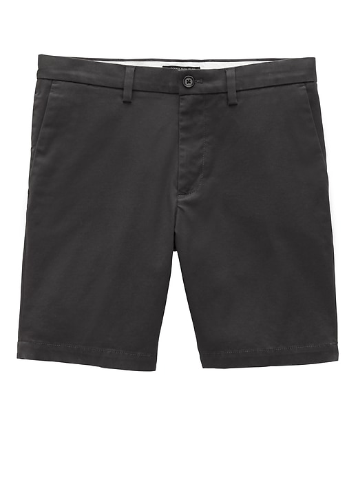 "9"" Stretch-Cotton Aiden Slim Short"