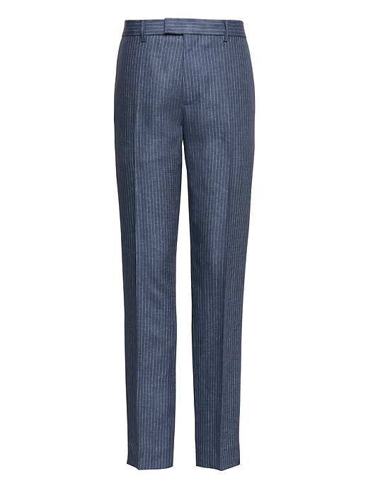 Heritage Tapered Linen Pinstripe Pant by Banana Repbulic