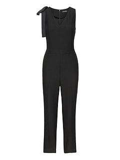 Bow-Shoulder Jumpsuit