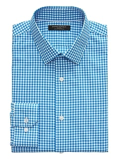 Grant Slim-Fit Non-Iron Gingham Shirt