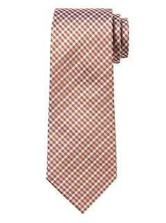 Micro Check Silk Nanotex® Tie