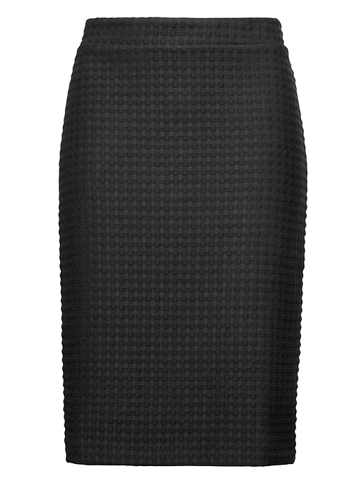 Gingham Knit Pencil Skirt by Banana Repbulic