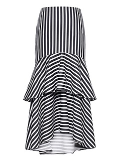 Super-Stretch High-Low Midi Skirt