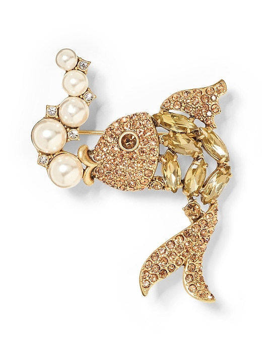 Jeweled Fish Brooch by Banana Repbulic