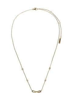 Everyday Luxuries 14k Gold-Plated CZ Link Necklace