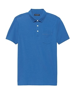 Luxury-Touch Chest Pocket Polo