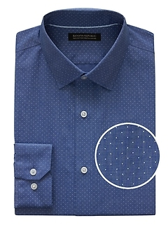 Grant Slim-Fit Non-Iron Dot Dress Shirt