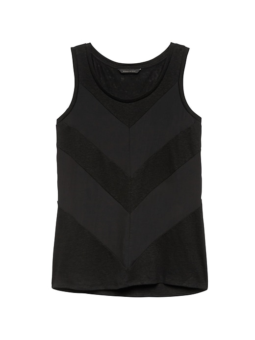 Linen Blend Chevron Tank by Banana Repbulic