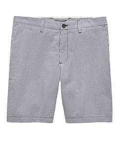 "9"" Seersucker Aiden Slim Gingham Short"