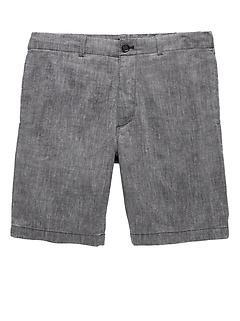 "9"" Stretch Linen Chambray Aiden Slim Short"