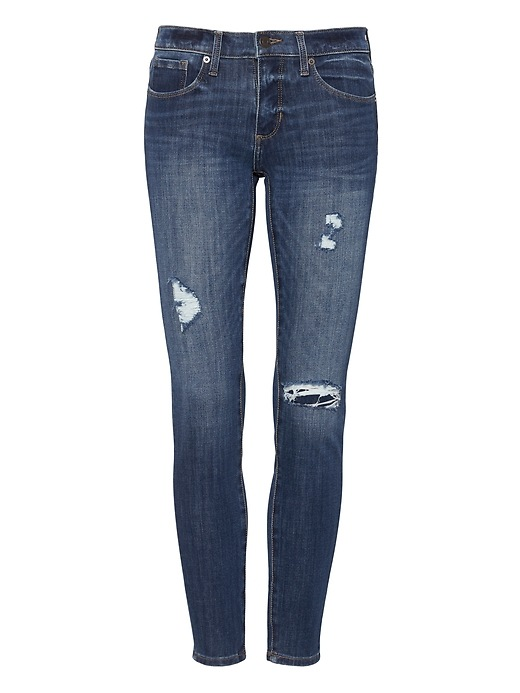 Petite Skinny Zero Gravity Medium Wash Ankle Jean by Banana Repbulic