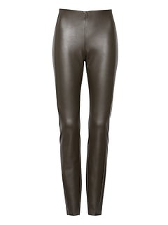 Petite Devon Legging-Fit Vegan Leather Ankle Pant