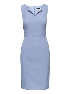 Birdseye Paneled Sheath Dress