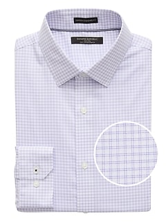 Camden Standard-Fit Non-Iron Check Dress Shirt