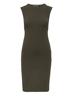 Rib-Knit Sheath Dress