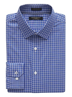 Camden Standard-Fit Non-Iron Grid Dress Shirt
