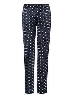 Petite Avery Straight-Fit Polka Dot Ankle Pant