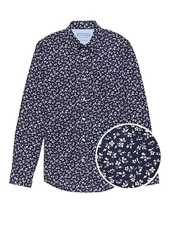 Grant Slim-Fit Luxe Poplin Floral Shirt
