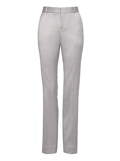 Petite Logan Trouser-Fit Wool-Blend Pant