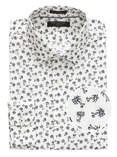 Camden Standard-Fit Non-Iron Stretch Palm Print Shirt