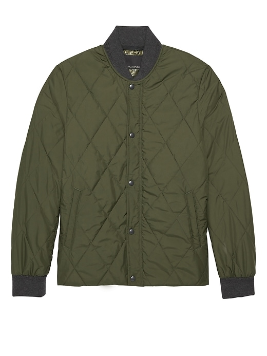 Water Resistant Quilted Bomber Jacket by Banana Repbulic
