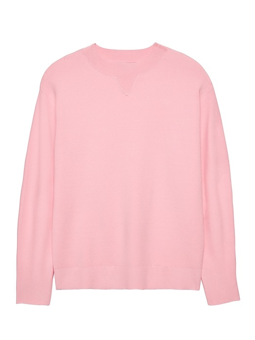 Banana Republic Womens Cocoon-Sleeve Sweater Pink Blush Size L