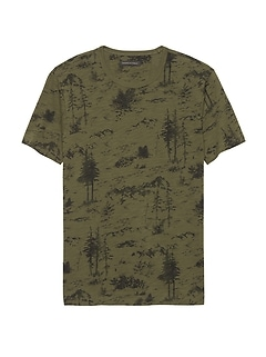 Soft Wash Forest Print T-Shirt