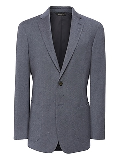 Slim Brushed Oxford Suit Jacket