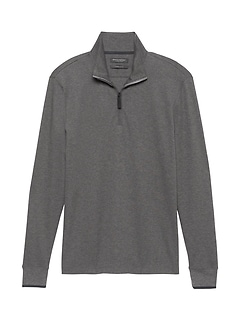 Luxury-Touch Half-Zip T-Shirt