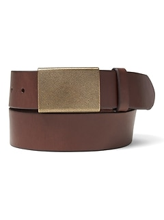 Moto Plaque-Buckle Belt