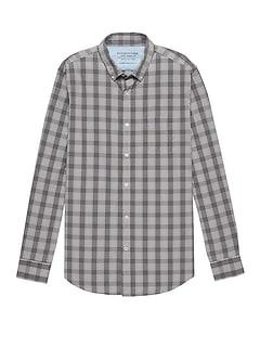 Camden Standard-Fit Luxe Poplin Plaid Shirt