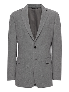 Slim Brushed Oxford Blazer