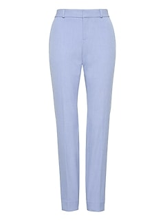 Petite Ryan Slim Straight-Fit Machine-Washable Birdseye Pant