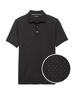 Luxury-Touch Dot Polo