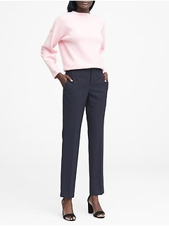 Ryan Slim Straight-Fit Machine-Washable Stripe Pant