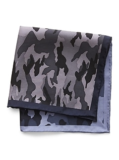 Leonard Camouflage Silk Pocket Square