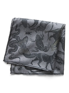 Animal Kingdom Silk Pocket Square