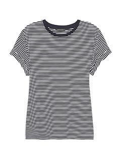SUPIMA® Cotton Stripe Boyfriend T-Shirt