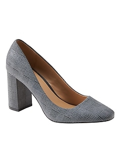 Square Toe Block-Heel Pump