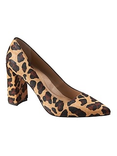 Madison 12-Hour Block-Heel Leopard Print Pump