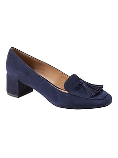 Low Block-Heel Tassel Loafer