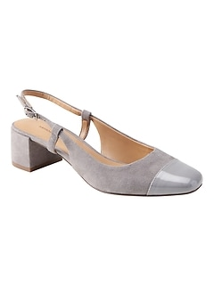Low Block-Heel Slingback Pump