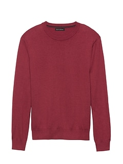 Premium Cotton Cashmere Crew-Neck Sweater