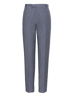 Athletic Tapered Windowpane Performance Stretch Wool Dress Pant