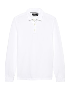 Don't-Sweat-It Long-Sleeve Polo