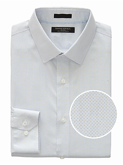 Grant Slim-Fit Non-Iron Dot Shirt